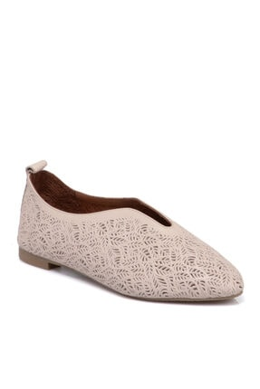 Tergan Pudra Kadın Deri Ayakkabı 65617a67