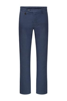 W Collection Indigo Mıcro Desen Chıno Pantolon