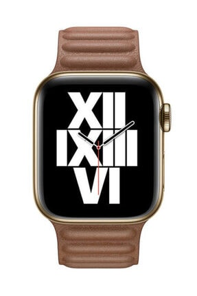 Apple Watch 1 2 3 4 5 6 Se 44 Mm Suni Deri Mıknatıslı Kordon Kahve Ve Popsocket