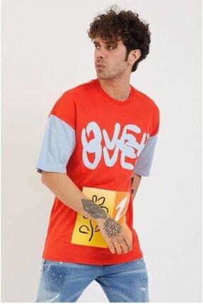 BREEZY 21201154 Baskılı Kırmızı Tişört
