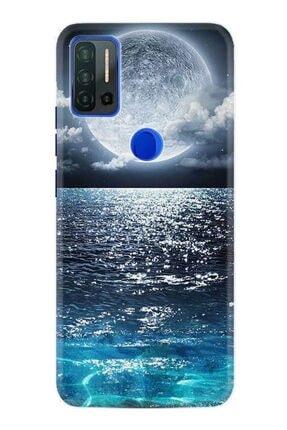 Reeder P13 Blue Max Pro Kılıf Desenli Silikon Kılıf Great Moon 1301