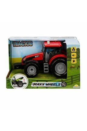 Maxx Wheels Sesli Ve Işıklı Traktör 18 Cm. - Kırmızı