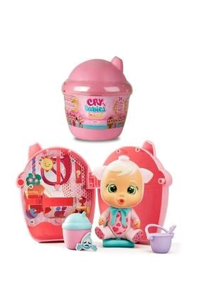 GIOCHI PREZIOSI Kız Çocuk Pembe  Cry Babies Mini Bebekler Ve Evleri Magic Tears Süpriz Paket Cdu12 98442
