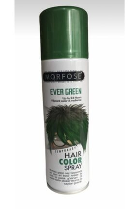 Morfose Geçici Renkli Boya Saç Spreyi Açık Yeşil 150 Ml