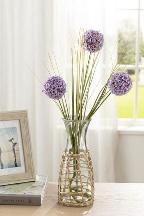 English Home Grass Bush Tek Dal Yapay Çiçek 63 Cm Lila