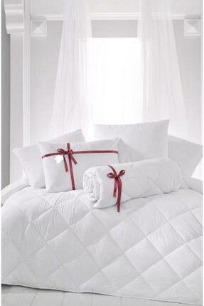 Madame Clean Home Çift Kişilik Antialerjik Lüx Microfiber Yorgan + 2 Adet 800 Gr Boncuk Slikon Yastık Seti