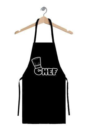 RimaSafety Master Chef Mutfak Önlüğü Siyah-askılı Önlük