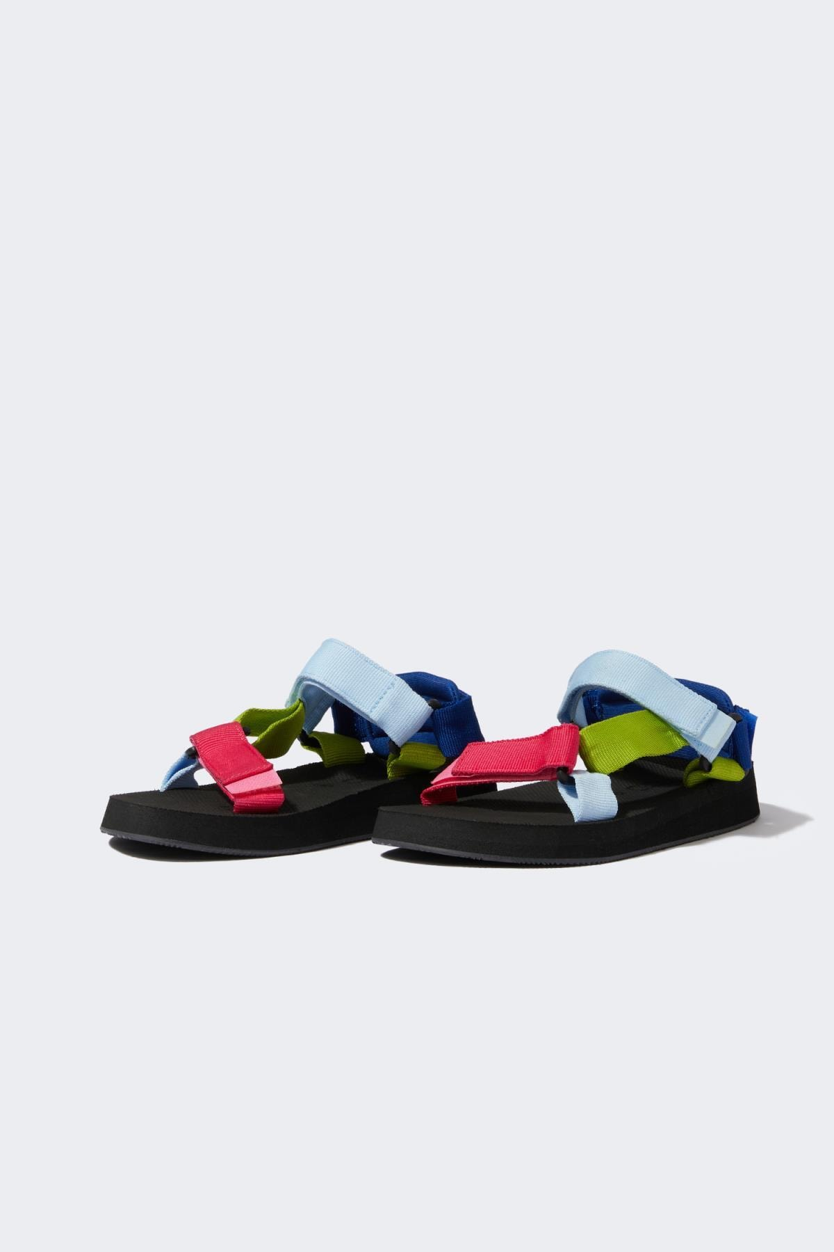 DeFacto Kadın Pembe Çift Bantlı Renkli Sandalet U3549AZ21SM