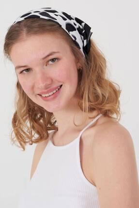 Addax Kadın Siyah Beyaz Desenli Fular Flr11 Adx-0000023889