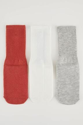 DeFacto Kadın Karma 3'lü Soket Çorap