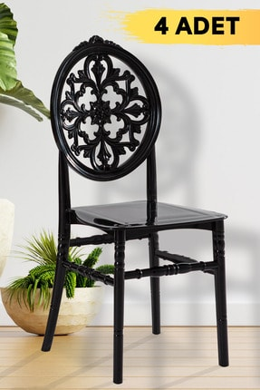 SANDALİE 4 Adet Venüs Sandalye Siyah