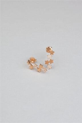 So CHIC... 18 Ayar Rose Altın Kaplama Kuyruklu Yıldız Gümüş Küpe