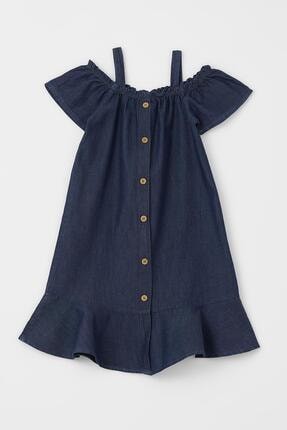 DeFacto Mavi Kız Çocuk Kısa Kollu Askılı Jean Elbise T6068A621SM
