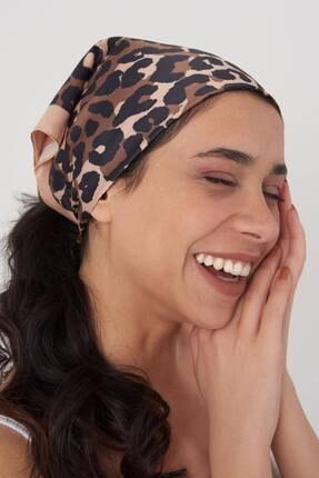 Addax Kadın Leopar Desenli Fular Flr12 Adx-0000023994