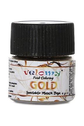 velomy Yenilebilir Metalik Toz Altın Yaldızlı Gold Gıda Boyası 4gr