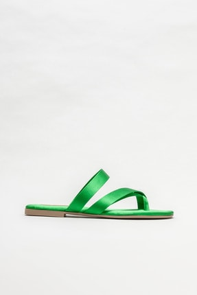Elle Shoes Yeşil Kadın Parmak Arası Terlik
