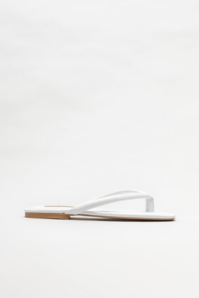 Elle Shoes Beyaz Kadın Parmakarası Terlik