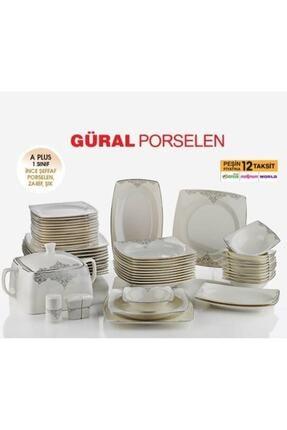 Güral Porselen 57 Parça Yemek Takımı Gold Serisi
