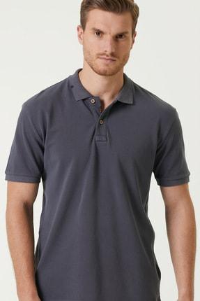 Network Erkek Slim Fit Antrasit Polo Yaka T-shirt 1079747