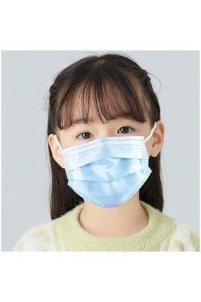 LİGHT HOUSE 50 Adet Çocuk Maske 3 Katlı,filtreli,lastikli,burun Telli Ultrasonik Cerrahi Yüz Maskesi Sertifikalı