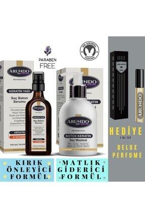 ARUNDO XİR Professional Onarıcı Yıpranmış Kuru Saç Botoksu Hair Botox 250 Ml + Keratin Yağı 100 Ml