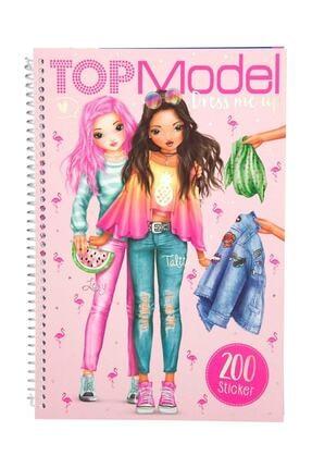 Top Model Boyama Kitabı Türkçe Flamingo