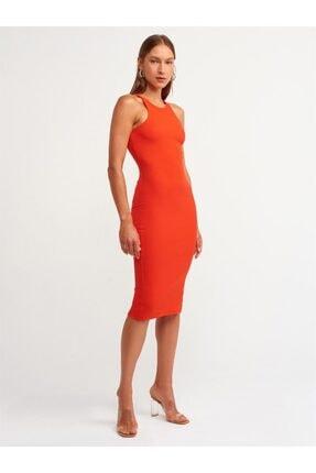 Dilvin Halter Yaka Elbise Kırmızı