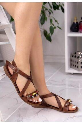 ESPARDİLE Kadın Taba Boncuklu Sandalet