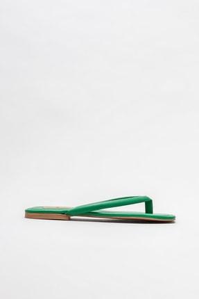 Elle Shoes Yeşil Kadın Parmakarası Terlik