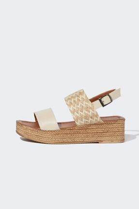 DeFacto Dolgu Topuk Hasır Sandalet