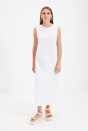 Trendyol Modest Beyaz Kolsuz Elbise Astarı TCTSS21UK0034