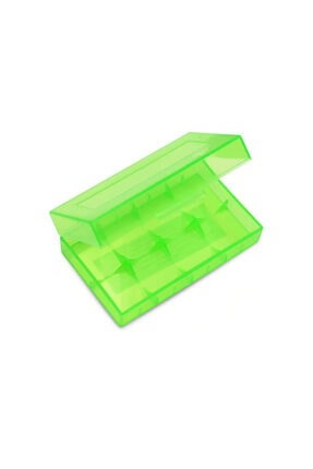 WOZLO Yeni Sert Plastik 18650 Pil Saklama Kutusu Yeşil