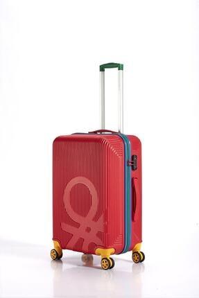 Benetton Abs Red Orta Boy Valiz Bnta201x