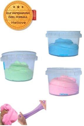 Hellove Ele Yapışmayan Slime Slaym Oyun Hamuru 3 Renk Pofuduk Slime
