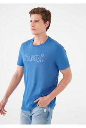 Mavi Logo Baskılı Tişört