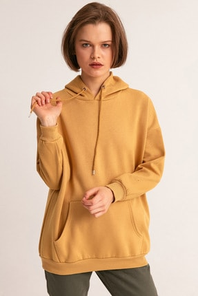 Fulla Moda Kanguru Cepli Kapüşonlu Sweatshirt