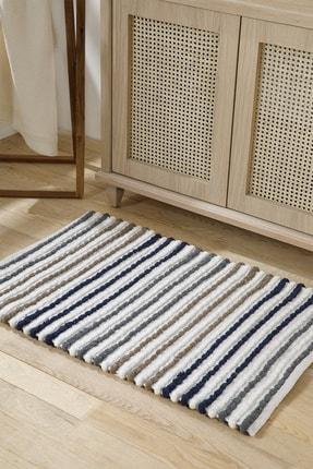English Home Balls Pamuk Polyester Banyo Paspası 60x90 Cm Gri - Lacivert