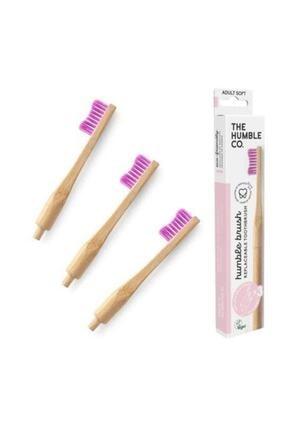 Humble Brush Yetişkin Değiştirilebilir Yumuşak Başlık Diş Fırçası Lila