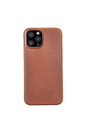 PLM Rock Cover Deri Telefon Kılıfı Iphone 12 Pro Max Rst2ef Taba