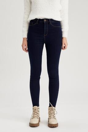 DeFacto Kadın Koyu Mavi Super Skinny Fit Jean Pantolon
