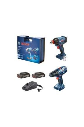 Bosch Somun Sıkma Makinesi Gsr 180-lı + Gdx 180-lı 2x1.5ah 06019g5222