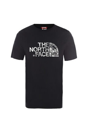 THE NORTH FACE M S/S WOODCUT DOME EU Siyah Erkek T-Shirt 100576740