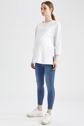 DeFacto Kadın Indigo Skinny Fit Jean Hamile Pantolon