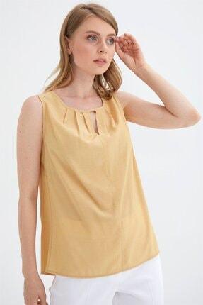 Chima Yakası Pilili Bluz
