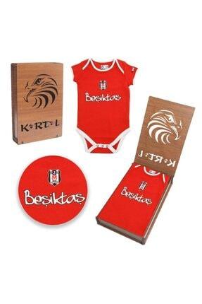 BJK Store Beşiktaş Lisanslı Bebek Zıbın Özel Ahşap Kutulu