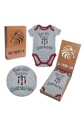 BJK Store Beşiktaş Orijinal Lisanslı Zıbın & Body Özel Ahşap Kutulu