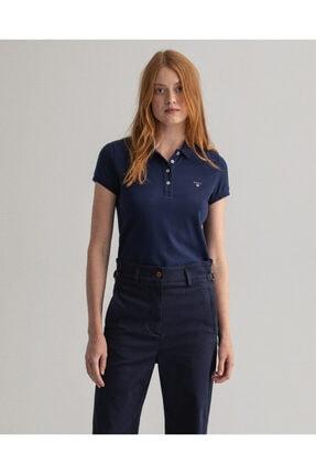 Gant Kadın Lacivert Regular Fit Polo