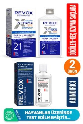 Revox Saç Bakım Seti- X-treme Dökülen Ve Geç Uzayan Saçlar Için Şampuan+arındırıcı Şampuan