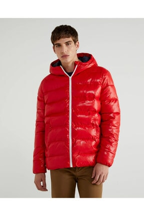 United Colors of Benetton Erkek Kırmızı Mont