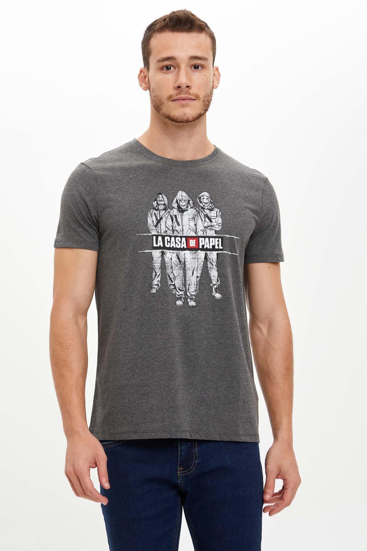 DeFacto La Casa De Papel Lisanslı Slim Fit Tişört